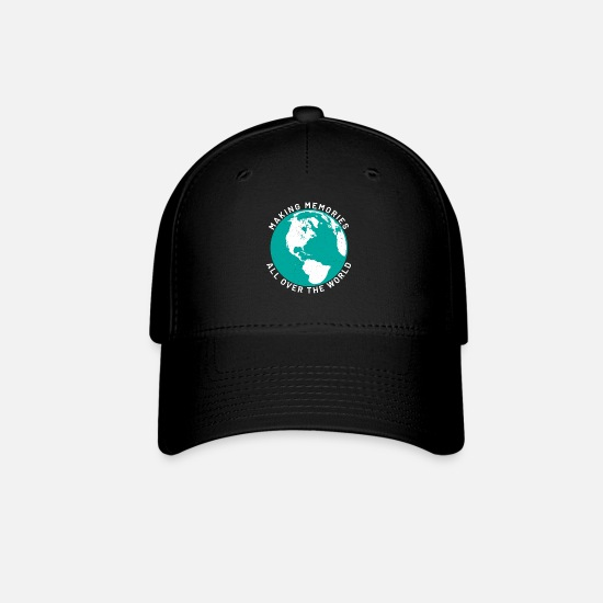 Aviation Caps - Vacation Island Palms Beach Sea Flying - Baseball Cap black