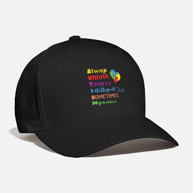 Intelligent Autism -Always Unique Totally Intelligent - Baseball Cap