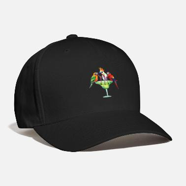 Parrot Parrots Drinking Margarita Hawaiian Vacation Birds - Baseball Cap