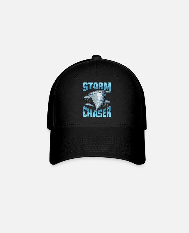 Weather Caps & Hats - Cute Storm Chaser Severe Weather Tornado Obsessed - Baseball Cap black