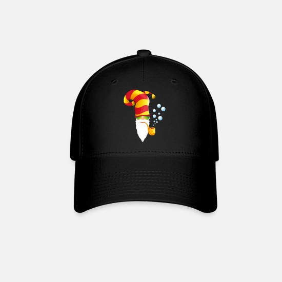 Image Caps - head-hilarious-cool-santa - Baseball Cap black