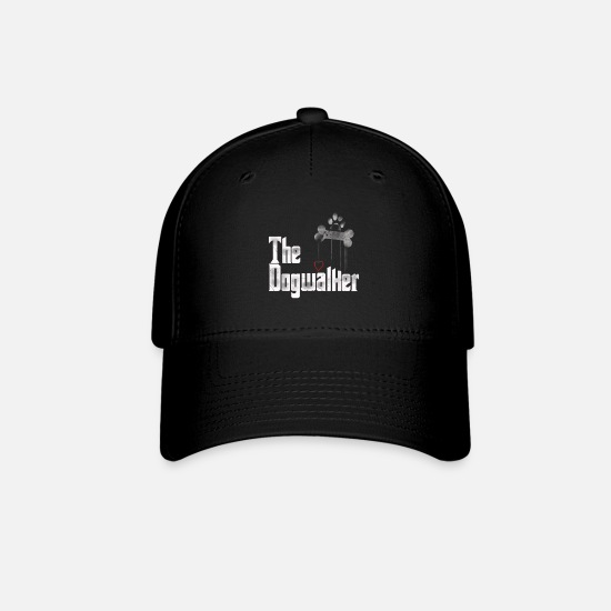 Walker Caps - Dog Walkers Shirt, The Dogwalker Parody T Shirt Gi - Baseball Cap black