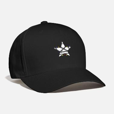 Asterisk Star Sky white shining falling star shooting Star - Baseball Cap
