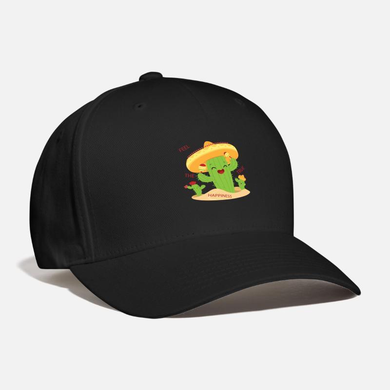 Cactus Caps - Happy Cactus - Baseball Cap black 3930280d287