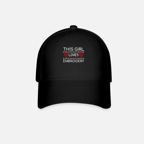 Girls Caps - Embroidery Girl Funny Handcraft Quotes Knit Gift - Baseball Cap black