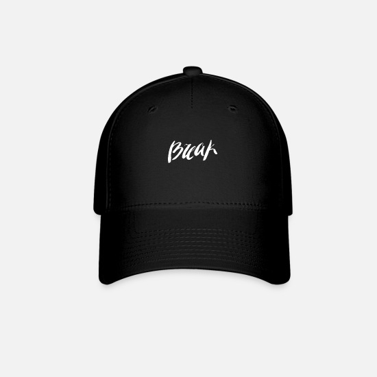 Breakbeat Caps - Break typography - Baseball Cap black