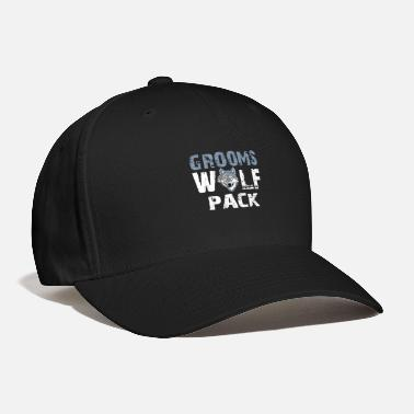 Wolf Pack Funny Groom - Grooms Wolf Pack - Ceremony Humor - Baseball Cap