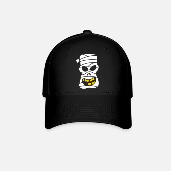 Halloween Caps - Naughty Halloween Mummy - Baseball Cap black