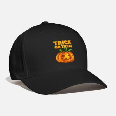 S O S Trick or Treat pixel Jack-o-lantern 80's 90's game - Baseball Cap