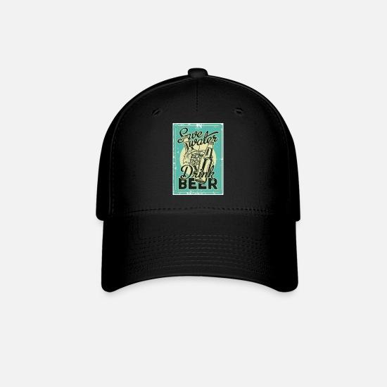 730659775bf Save Water Drink Beer Vintage Design Baseball Cap - black