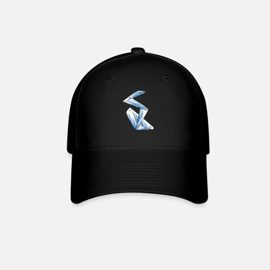 Letter Caps - blue assembled letter - Baseball Cap black
