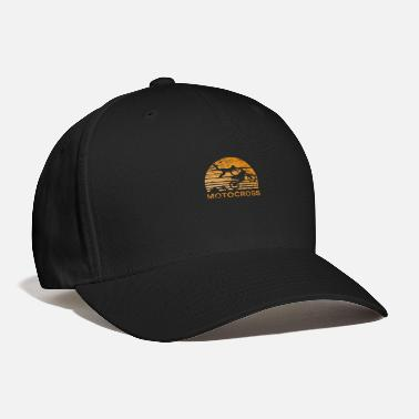 Motorcycle Motocross Sunset - Motorcycle, Dirtbike - Baseball Cap
