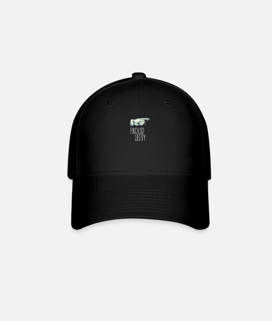 Bowlers Caps & Hats - Proud lefty - left-handed - Baseball Cap black