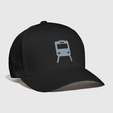 train tram railway railroad subway transport metro - Baseball Cap