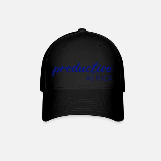 Boss Caps - productive as Fuck - Baseball Cap black