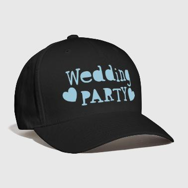 wedding party new vintage funky font - Baseball Cap