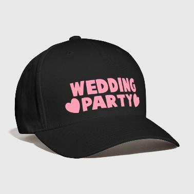 wedding party new cartoonist with love hearts - Baseball Cap