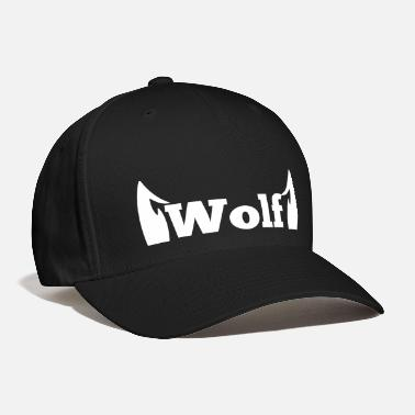 Wolf wolf in type with cute ears - Baseball Cap