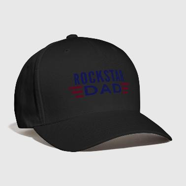 rockstar dad 2 colours with wings - Baseball Cap