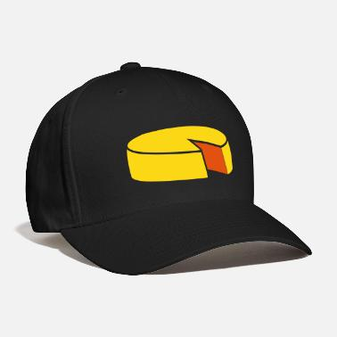Cheese cheese wheel large 2 color - Baseball Cap