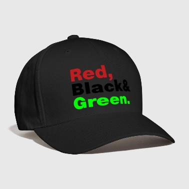 Red, Black & Green. - Baseball Cap