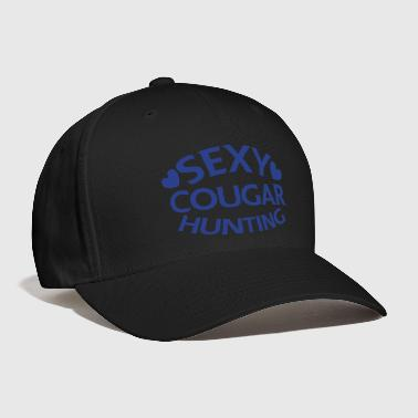 sexy cougar hunting hunter with little love hearts - Baseball Cap
