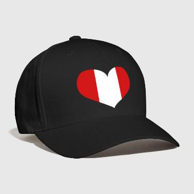 Peru Heart; Love Peru - Baseball Cap