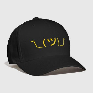 Shrug Emoticon ¯\_(ツ)_/¯ Japanese Kaomoji - Baseball Cap