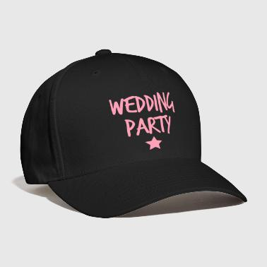 wedding party new funky and with a star - Baseball Cap