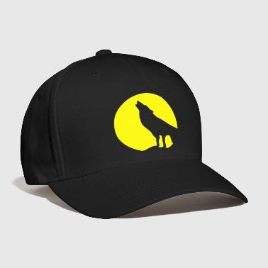 Wolf and Moonlight Silhouette - Baseball Cap
