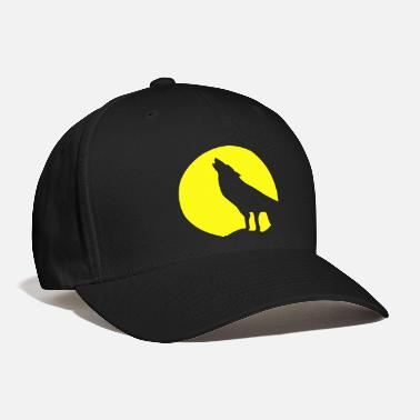 Wolf Wolf and Moonlight Silhouette - Baseball Cap