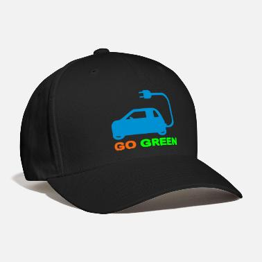 Drive Go By Car GO GREEN ~ DRIVE ELECTRIC VEHICLES - Baseball Cap
