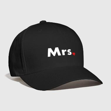 Mrs with heart dot - part of Mr and Mrs set - Baseball Cap
