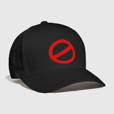 Prohibited prohibition sign - Baseball Cap