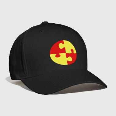 jigsaw together pieces interlocked circle4 four - Baseball Cap
