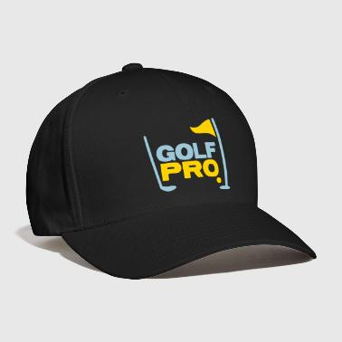 golf pro with golf ball flag and club - Baseball Cap