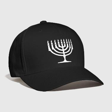 Vector Menorah VECTOR - Baseball Cap