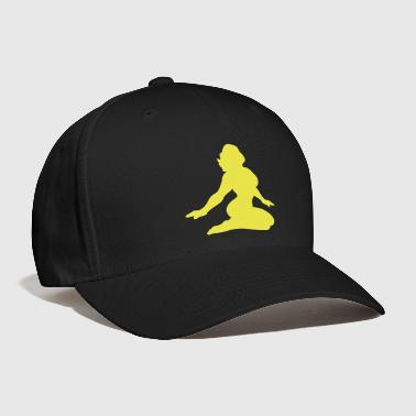 simple rockabilly girl tattoo pinup sexy lady with delicious curves - Baseball Cap