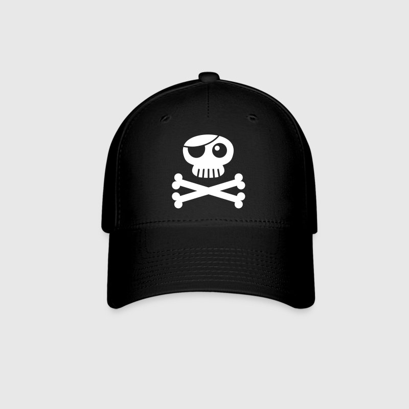 jolly roger with eye patch - Baseball Cap