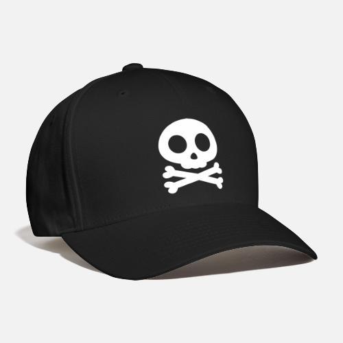 13f70f5e54f Skull Crossbones - Baseball Cap. Front