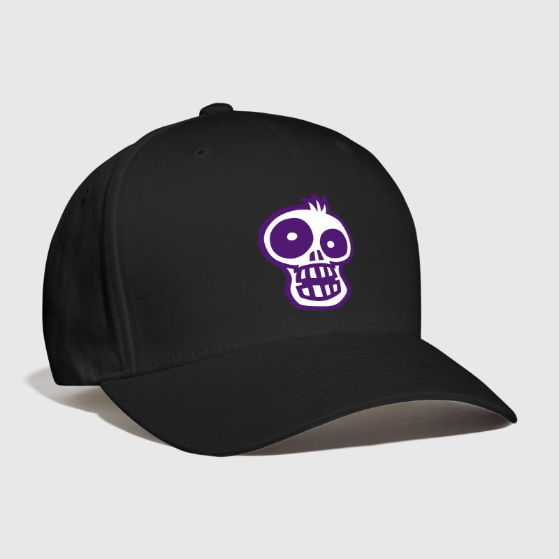 Cartoon SKULL 2 small vector - Baseball Cap