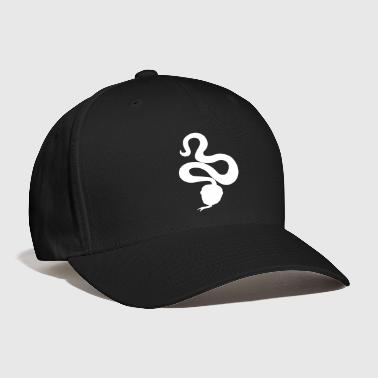 slithery snake with a forked tongue - Baseball Cap