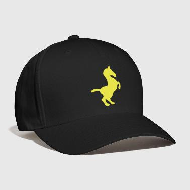 simple rearing show pony horse - Baseball Cap