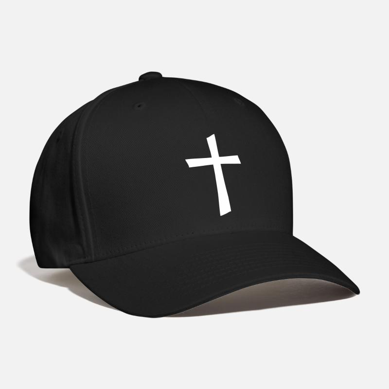 Christian Caps - A Decorative Cross - Baseball Cap black