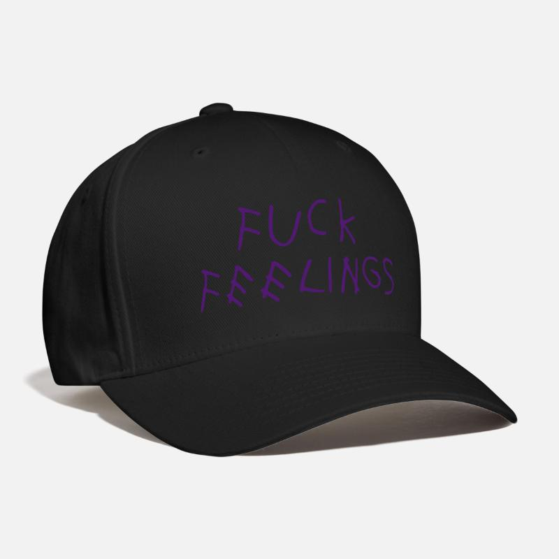 Fuck Caps - Fuck feelings - Baseball Cap black