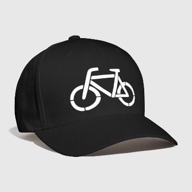 bicycle stencil - Baseball Cap