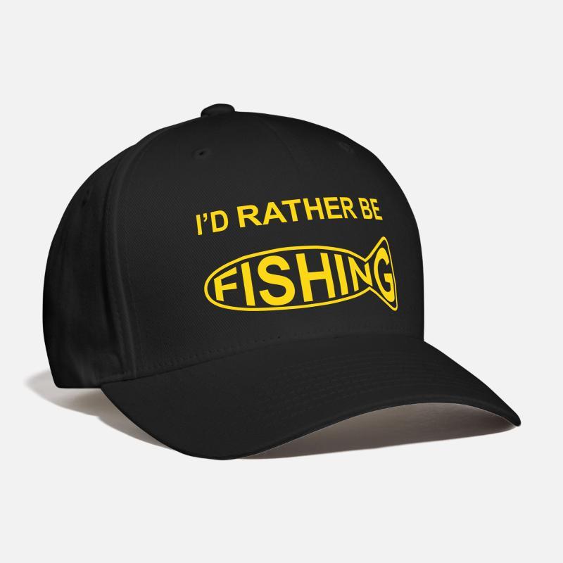 7c120be0b65 Carp Caps - I d Rather Be Fishing - Baseball Cap black