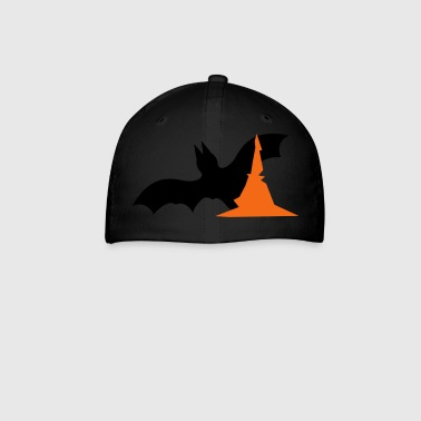 Halloween bat with witches hat  - Baseball Cap