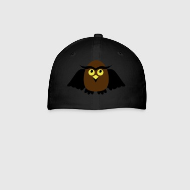 owl with wings cute - Baseball Cap