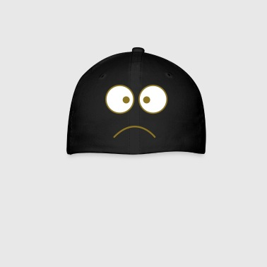 crazy face eyes together frown - Baseball Cap